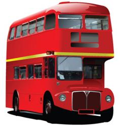 London double decker vector image
