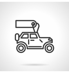 Automobiles for rent black line icon vector