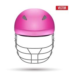 Pink Cricket Helmet Front View vector image