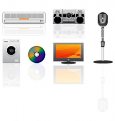 Appliance icons set vector