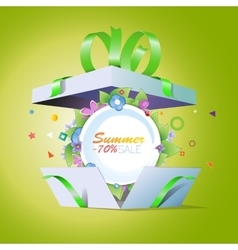 Special offer summer discounts seasonal sale vector