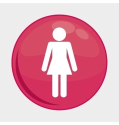 Woman person button icon social media design vector