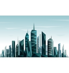 Abstract futuristic city made with triangle and vector