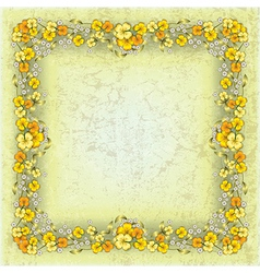 Abstract grunge yellow background with spring vector