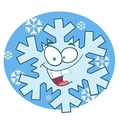 Cartoon Snowflake Character vector image vector image