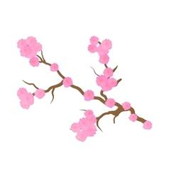 Cherry blossom sakura flowers icon cartoon style vector