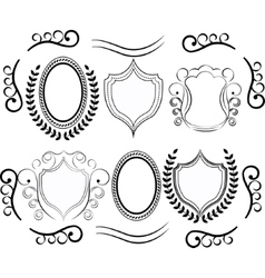 decorative design elements Set Of vector image vector image