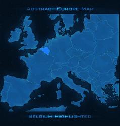 Europe abstract map belgium vector
