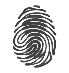 Fingerprint with keyhole shape vector image vector image