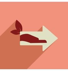 Flat web icon with long shadow eco arrow vector