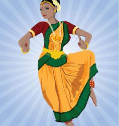 Indian dancer vector image vector image