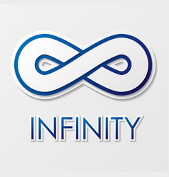 Infinity symbol with text vector