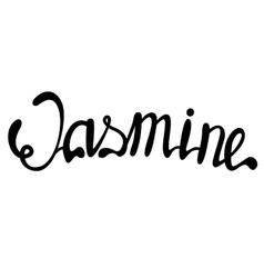 Jasmine name lettering vector