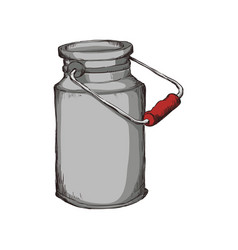 milk can container vector image