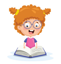of kid reading vector image