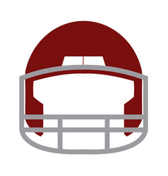 Red helmet football equipment sport image vector