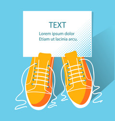 Shoes background and paper for text vector