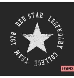 Star vintage stamp vector image vector image