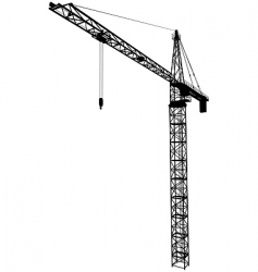 tower crane vector image vector image