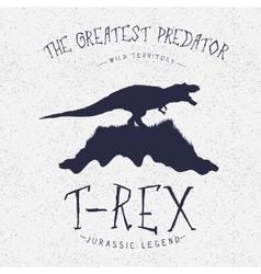 Typography labeldinosaur on the mountain vector