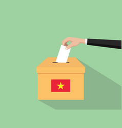 Vietnam vote election concept with vector