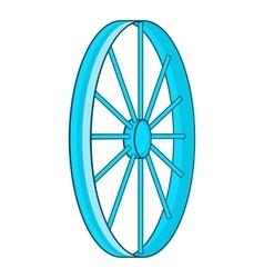 Bicycle wheel symbol icon cartoon style vector image