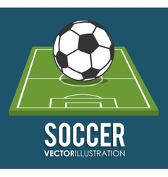 Ball and league of soccer sport design vector