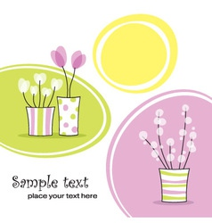 Spring floral card vector