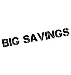 Big savings rubber stamp vector