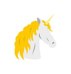 unicorn icon flat style vector image