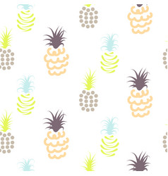 Abstract pineapple pastel colors pattern vector
