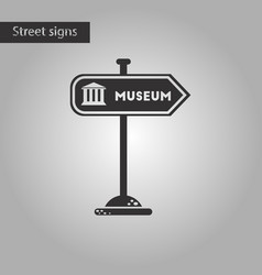Black and white style icon museum sign vector