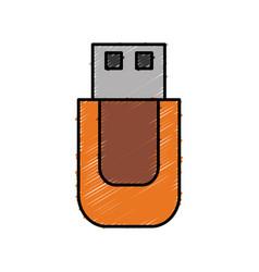 Usb icon image vector