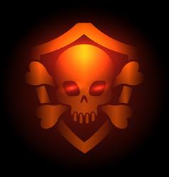 Biker club poster with skull emblem vector