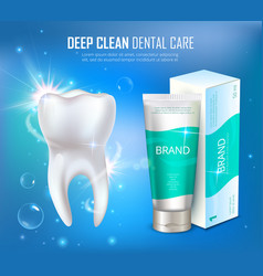 Prophylactic dental deep cleaning medical poster vector