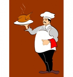 Chef hand drawn illustration vector