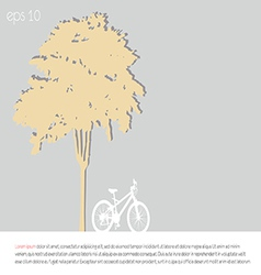 Tree an bicycle over gray background vector
