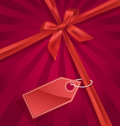 Gift bow with label vector
