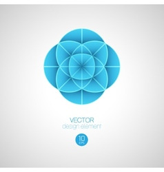 3d circle design element vector