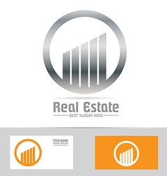 Grey symbol real estate building logo icon vector