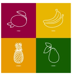 Mangobananapineappleavocado vector
