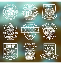 Sport badges Graphic design for t shirt vector image