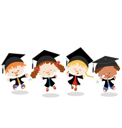 Graduated Kids vector image