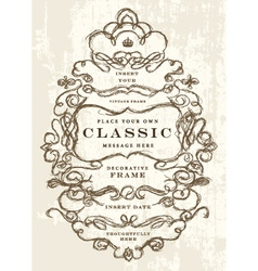 Hand drawn ornate frame vector