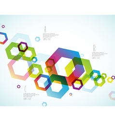 Abstract colored background with hexagon objects vector