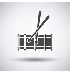 Drum toy icon vector