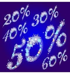 Winter sale percents vector