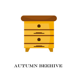 Apiary honey bee house vector