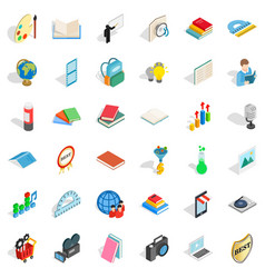 Book icons set isometric style vector