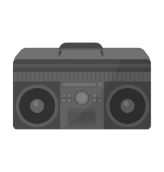 Boombox icon in monochrome style isolated on white vector
